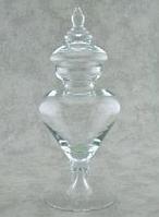 Конфетница с крышкой Н470мм, диам 200мм стекло Бережаны 22010
