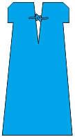 Рубашка для роженицы нестерильная