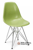 "Стул ""Eames DSR"" (Chrome) (ПЛ зеленый)"