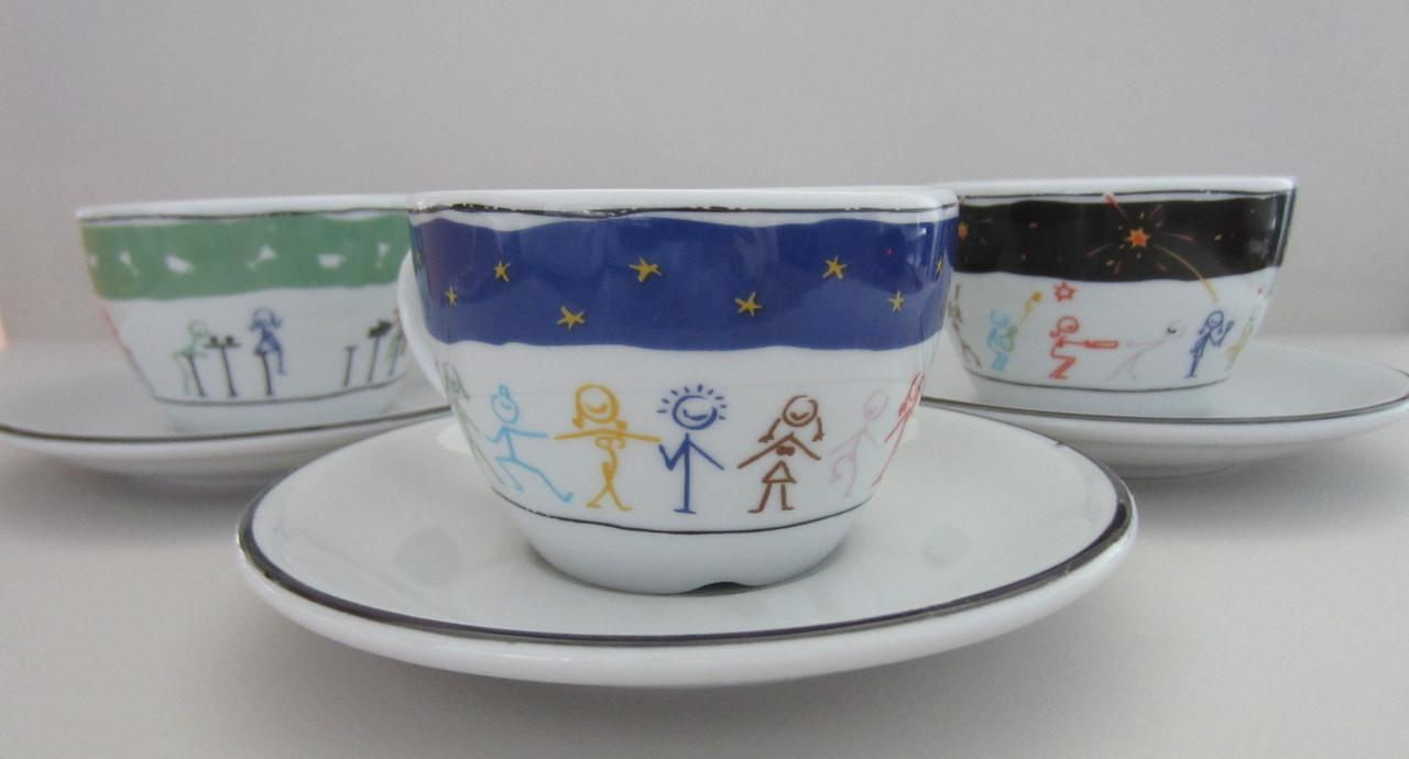 Набор чашек с блюдцами для чая/капуччино