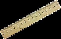 Линейка деревянная 15 см МИЦАР