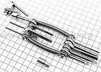 Ключ-набор 11 предметов (шестигранники 2,2.5,3,4,5,6,8мм, Т25 ключ-звездочка, отвёртки прямая и фигурная, отки