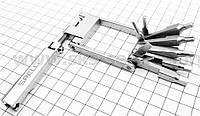 Ключ-набор 11предметов (шестигранники 2,2.5,3,4,5,6мм, откидной спицной ключ, Т25 ключ-звездочка, отвёртки пря