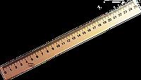 Линейка деревянная 25 см МИЦАР
