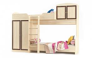 Детская двухъярусная кровать со шкафом Дисней Горка