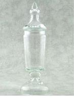 Конфетница с крышкой Н460мм, диам 150мм стекло Бережаны 22033