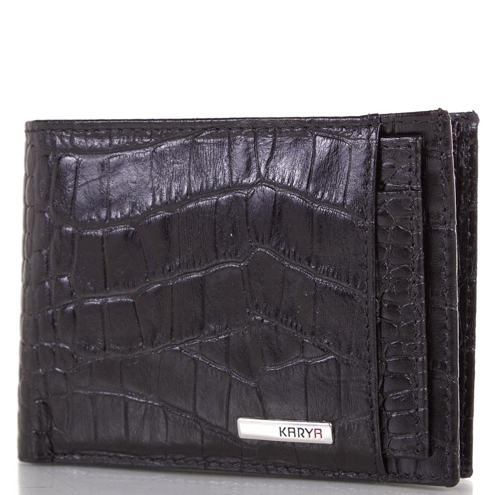 Кожаный карманный мужской кошелек KARYA SHI0911-2KR черный
