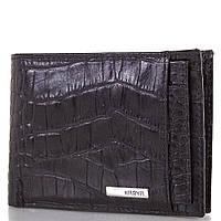 Кожаный карманный мужской кошелек KARYA (КАРИЯ) SHI0911-2KR Черный