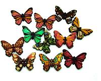 Пуговица Бабочка коричневая 24 мм 5 штук (товар при заказе от 200 грн)