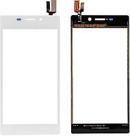 Сенсор (тач скрин) SONY Xperia M2 D2305, D2302, D2303, D2306 S50h white (оригинал)