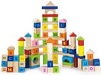 Viga Toys Набор кубиков Viga Toys Алфавит и числа, 100 шт. (50288)