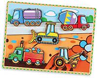 Viga Toys Рамка-вкладыш Viga Toys Спецмашины (56439)