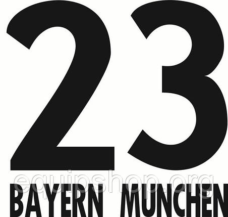 Нанесение номера и фамилии Bayern Munich, фото 2