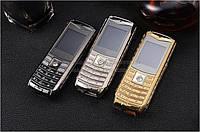 Телефон на 3 Sim VERTU V8 с тремя сим-картами Большая батарея 5800 Mah + фонарик