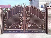 """Ворота кованые с калиткой под заказ. Покраска супер стойкой эмалью """"Alpina"""" . Доставка и установка."""