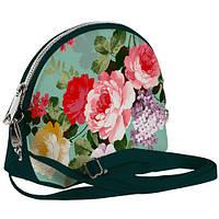 Изумрудная сумочка Кокетка Цветочная нежность