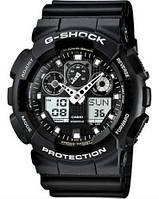 Часы мужские наручные в стиле Casio G-Shock GA-100 черно-белые (Касио Джи Шок) электронные противоударные