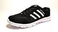 Кроссовки мужские Adidas текстиль, черные (адидас)р.44