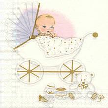 Декупажная салфетка Новорожденная малышка 5884