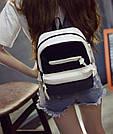 Городской рюкзак в черно-белом окрасе., фото 4