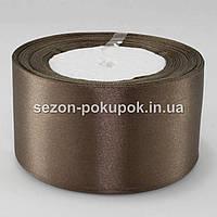 Лента атласная 5 см (23 метра) Цвет - молочный шоколад