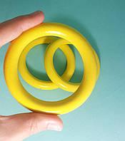 Кольцо большое, 85мм Желтый