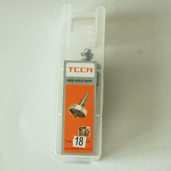 Коронка TCCN по металлу HSS с пружиной, Ø 18 мм