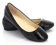 Женские балетки, лодочки туфли  Янина черный  размеры 39