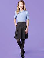 Школьная юбка серая в круговые складки на девочку 6-7 лет Marks&Spencer (Aнглия), фото 1