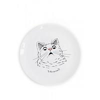 Тарелка D-25 см Здивований кіт (UA)