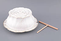 """Блюдо для блинов с крышкой 28х28х12 см. """"Лепестки розы"""""""