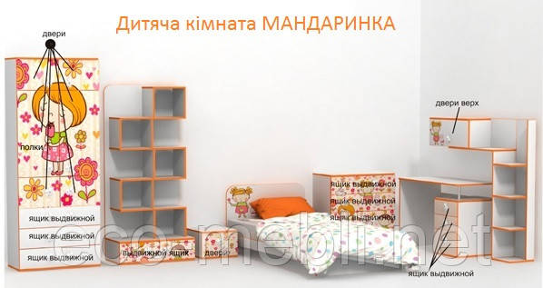 "Модульна дитяча кімната ""МАНДАРИНКА"""