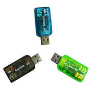Контроллер USB-sound card (5.1) 3D sound (Windows 7 ready)