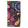 Чехол книжка для Samsung Galaxy A3 2016 SM-A310 боковой с отсеком для визиток, Colorized Pattern, фото 3