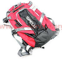 Рюкзак влагозащитный 20 литр., с отсеком для шлема, чехлом от дождя, вентилируемые накладки на спину