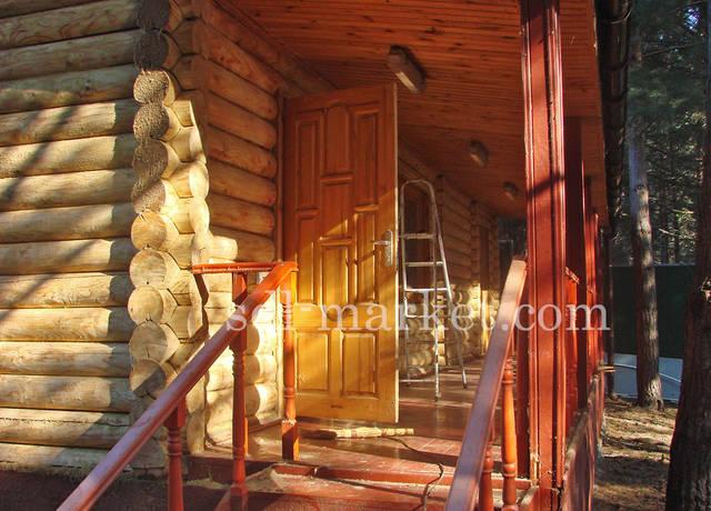 Киевская обл., Дамба, 9 км. Реставрация, шлифовка сруба.