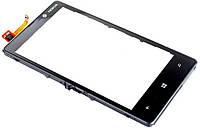 Сенсор (тач скрин) NOKIA Lumia 820 с рамкой black