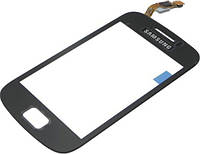 Сенсор (тач скрин) SAMSUNG Galaxy mini 2 S6500 black (оригинал)