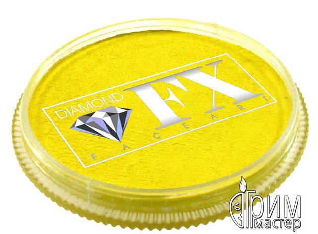 Аквагрим Diamond FX основной Жёлтый лимонный 30g, фото 2
