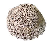Шляпка из рисовой соломки ажур цветок, фото 2