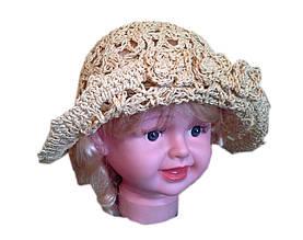 Детская шляпа ажур с заворотом