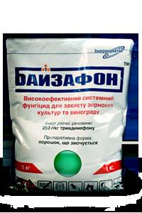 Фунгицид / фунгіцид Байзафон (Байлетон) триадимефон 250 г/кг, зерновые, виноградники, арбуз, дыня, тыква