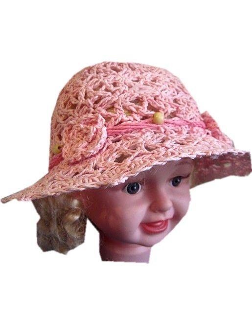 Подростковая шляпа из рисовой соломки