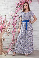 Літній гарне модне плаття в підлогу з легкого штапелю., фото 3