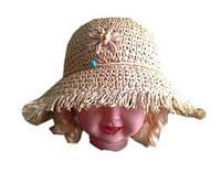 Детская шляпа из рисовой соломки