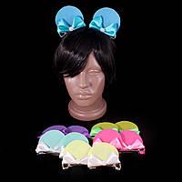 Заколки с бантиком «Ушки Минни Мауса», голубые
