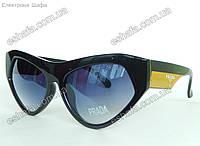 Солнцезащитные женские очки  PRADA (кошачий глаз) с чехлом