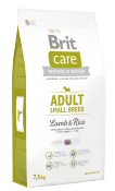 Brit Care Adult Small Breed Lamb & Rice 1 кг. Полнорационный сухой корм для взрослых собак малых пород