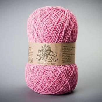 Пряжа Этно-Коттон 1200 м, розовая