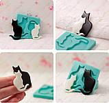 Эксклюзивный молд на 2-х котиков, для эпоксидной смолы., фото 7